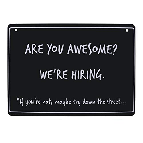 are You Awesome? We're Hiring Sign - Help Wanted Sign for Store. Hiring Sign for Business (8.25