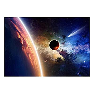 Charming Technique, Premium Creation, Bright Atmosphere of a Massive Alien Planet and a Streaking Comet Wall Mural
