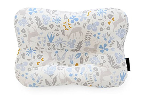 Baby Pillow for Newborn Breathable 3D Air Net Organic Cotton, Protection for Flat Head Syndrome Bambi Blue
