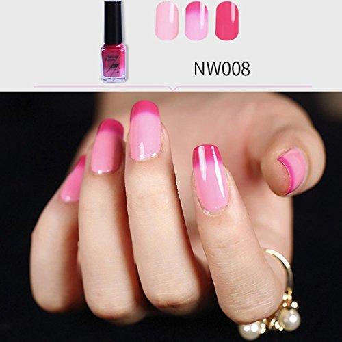 Women's Nail Polish, Iuhan 6ml Temperature Change Nail Polish Color Temperature Control Nail Oil (Mini Peel Kit)