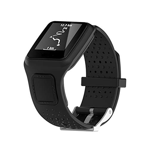 (Sibode Replacement Bands for Tomtom Runner HRM + Multi-Sport GPS Multimeter and Runner Cardio Watch Tomtom Multi-Sport +CSS+AM Silicon WatchBand and More (Black))