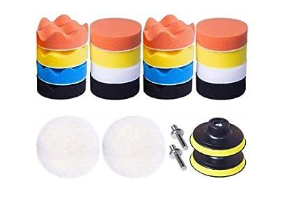 Esponja pulir Coche Adaptador Accesorio Taladro Pulidora Pulido Lana Kit Encerado para el Coche Encerado Lijado Esponja Pulir para coche