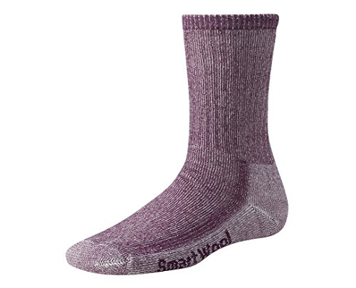 (Smartwool Women's Hiking Medium Crew, Dark Cassis size M(shoe size 7-9.5))