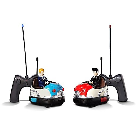 FAO Schwarz Classic Retro Vintage Remote Controlled Toy Retro Bumper Car Set, Includes 2 Cars And 2 Battery-Operated Remote Controls