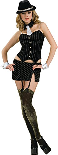 Secret Wishes Women's Ms. Gangster Adult Costume, Multicolor, X-Small