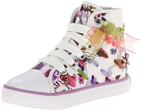 Geox Junior Ciak Girl 33 Sneaker (Toddler/Little Kid/Big Kid), White, 29 EU (11 M US Little Kid)