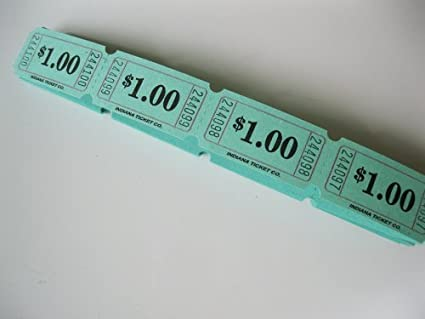 amazon com 500 green 1 consecutively numbered raffle tickets