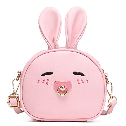 CMK Trendy Kids My First Purse for Toddler Kids Girls Cute Shoulder Bag Messenger Bags with Bunny Ear Novelty Birthday Gift (82011_Pink) by CMK Trendy Kids
