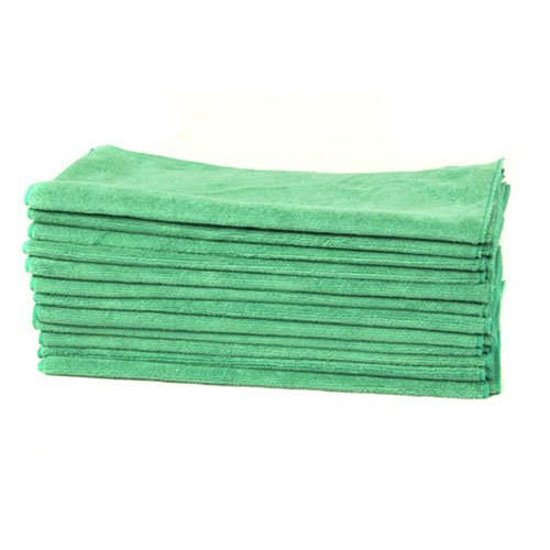 Chemical Guys MIC_MGREEN_12 Workhorse Professional Grade Microfiber Towel, Green (16 in. x 16 in.) (Pack of 12)