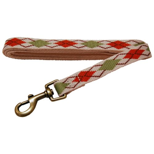 Petz Best Dog 3/4-Inch by 5-Feet Recycled Poly Leash, Natural Argyle, My Pet Supplies