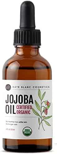 Jojoba Oil (2 oz), USDA Certified Organic, 100% Pure, Cold Pressed, Unrefined. Revitalizes Hair and Gives Skin a Radiant, Youthful Look. Great treatment for Face, Lips, Cuticles, Stretch Marks, Beard