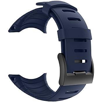 Suunto Core Strap, Rubber Replacement Watch band for Suunto Core SS014993000,Midnight blue
