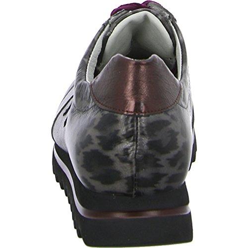 femme Waldläufer de 200 366 lacets Gris à ville pour Chaussures 923004 rqrgzwxA