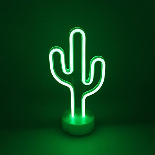 Neon Cactus Indoor Night Light with Holder, LoveNite Glowing Neon Decorative Sign Light for Room Party Festival Decorations by LoveNite (Image #7)'