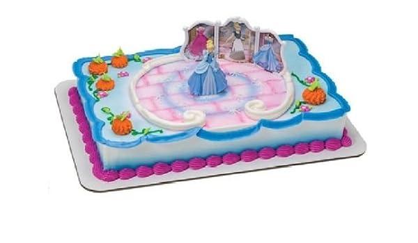 Peachy Amazon Com Cakedrake Cinderella Blue Dress Tranformation Princess Funny Birthday Cards Online Overcheapnameinfo