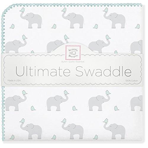 SwaddleDesigns Ultimate Elephant SeaCrystal Chickies
