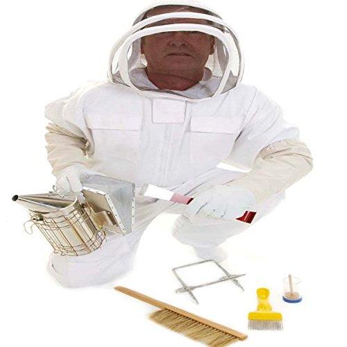 Beekeeping bee Suit, Gloves and COMPLETE BEGINNERS PACKAGE MEDIUM simonthebeekeeper