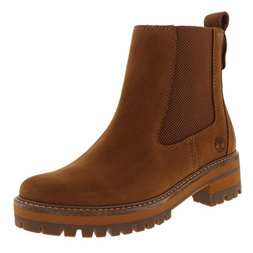 Image of Timberland Womens Courmayeur Valley Leather Pull On Mid Calf Winter Boot