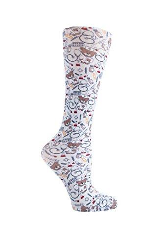 Cutieful Women's Nylon 8-15 Mmhg Compression Sock Nurse Bear,One Size , Nurse Bears , Women's Shoe Sizes 5-11  ()