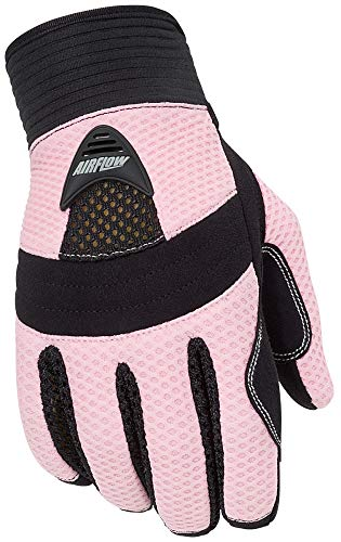 Tour Master Airflow Womens Textile On-Road Motorcycle Gloves - Pink/Small ()