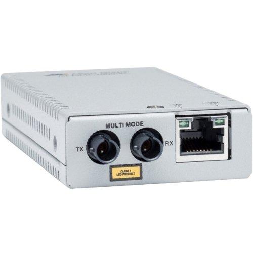 Allied Telesis AT-MMC2000/ST-90 AT MMC2000/ST - Fiber media converter - GigE - 10Base-T, 1000Base-SX, 100Base-TX, 1000Base-T - RJ-45 / ST multi-mode - by Allied Telesis
