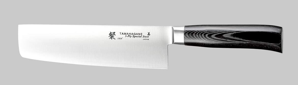 Tamahagane Tsubame Mikarta Stainless Steel Nakiri Vegetable Knife, 7-Inch