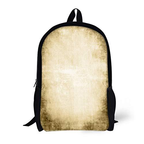 (Pinbeam Backpack Travel Daypack Brown Western Old West Copy Space Beige Border Waterproof School Bag)