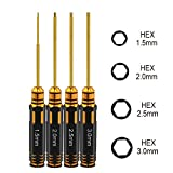 VQRTKS 4pcs Hex Screw Driver Set 1.5mm 2.0mm 2.5mm