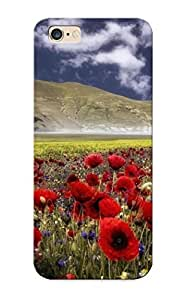Premium Snap-on Poppies And Cornflowers In The Mountain Meadow Case For Iphone 6 Plus Series