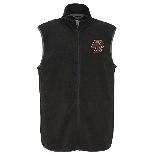 NCAA Boston College Eagles Adult Men Scrimmage Fleece Vest, Large, Black - College Fleece