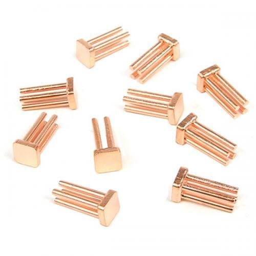 Enzotech Mosfet Passive Heat Sink, 6.5 x 6.5 x 12 mm, Copper, 10-pack