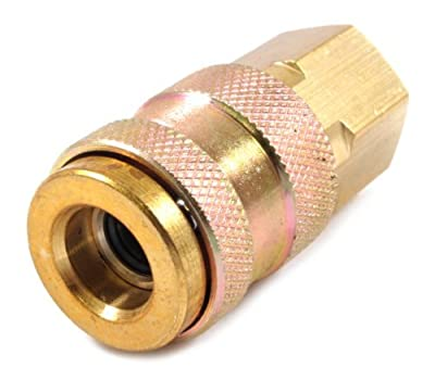 Forney 75527 Air Fitting Coupler, Universal, 1/4-Inch-by-1/4-Inch Female NPT by Forney