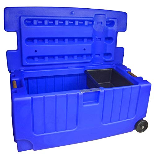Jolly Pets Tack Trunk with Wheel Assemble, Blue ()