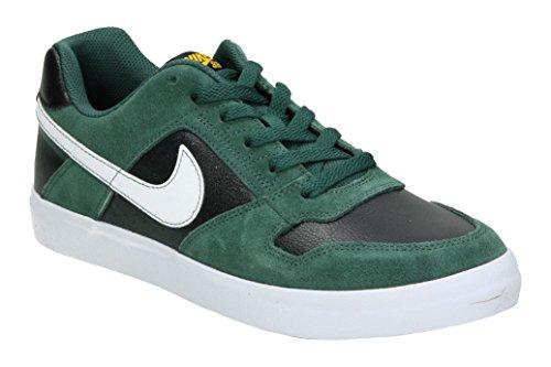 NIKE Sb Delta Force Vulc Herren Skateboardschuhe Mehrfarbig (Midnight Green/White/Black/White 300)