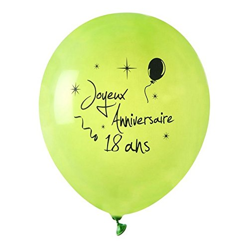 Globo colgante del Enanito Feliz cumpleaños verde 18 x 8 ...