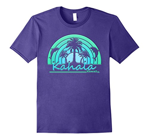 Mens Kahala Hawaii Dolphins and Palm Trees T Shirt Large - Hi Kahala