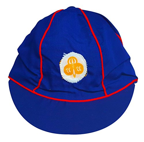 Lean Of Costume Cup (Blue Mango Scout Hat Boys Girls Free Size Blue Red School)