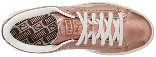Puma Womens Basket Classic Citi Metal Wns Fashion Sneaker Rame-sussurro Bianco