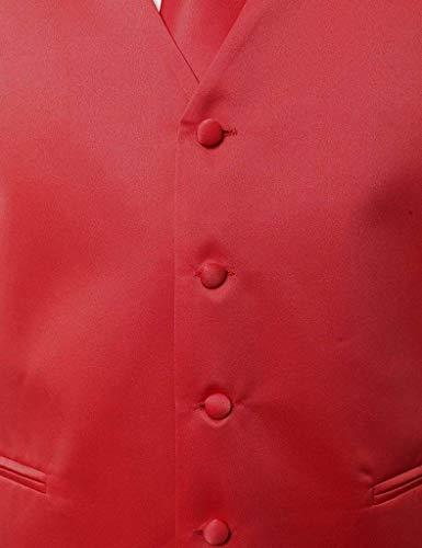 Rot V Pour Tuxedo L color Et Costume Slim Homme En Élégant Knoepproof avec Cravate Col Size Fit Jeune Gilet Hanky Boucle 5 Yasminey 6wZqR5S