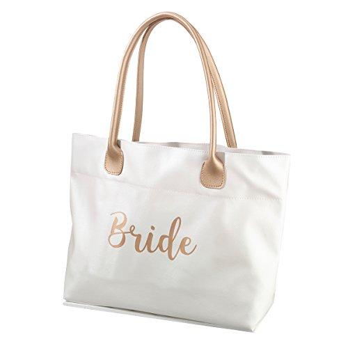 Guess Metallic Tote - Lillian Rose Gold Bride Tote Bag