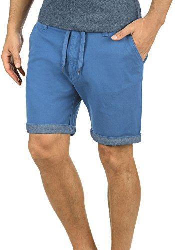 Pantalón Elástico 1414 Pantalones Tela Regular De Federal Chino Bermuda Hombre Para Blue Corto fit Lagoa solid nHwqvfxZE