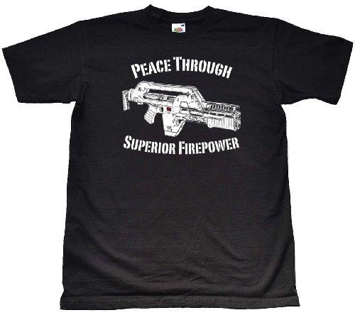 Price comparison product image Teamzad Colonial Marines Pulse Rifle Superior Firepower T Shirt Medium Black