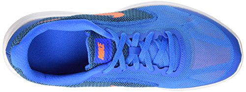 Nike Revolution 3 Gs - entrenamiento Niños Azul (Photo Blue / Ttl Orange Blck Wht)