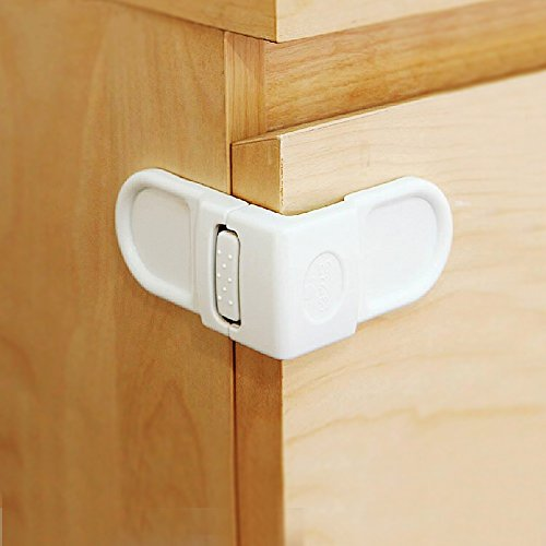 Baby Mate 12 Pcs Safety Angle Locks For Drawers And