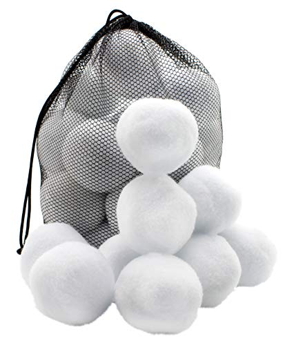 Attatoy 30-Count Indoor Plush Snowballs, Toy Snowballs for Indoor Play with Drawstring Bag