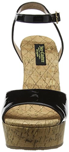 Juicy Couture Oriann Cork Platform Wedges - Tacones Mujer Negro (Black Multi)