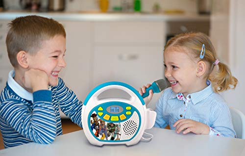 Toy Story 4 Bluetooth Sing Along Portable MP3 Player Real Working Microphone Stores Up To 16 Hours of Music with 1 GB Built In Memory USB Port To Expand Your Content Built In Rechargeable Batteries by eKids (Image #3)