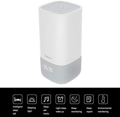 スマートウェイクアップライト睡眠補助デュアル USB ラジオスマートウェイクアップポータブルマルチタッチ屋外デスクランプ Bluetooth 接続リズム光呼吸光 4.02 * 4.02 * 8.09