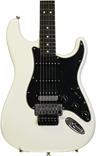 Fender Standard Stratocaster Electric Guitar - HSS - with Floyd Rose Locking Tremolo - Rosewood Fingerboard, Olympic White