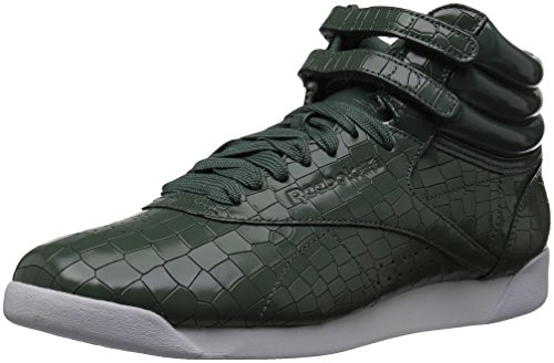 Reebok Women's F/S Hi Crackle Walking Shoe, Chalk Green/Pragmatic Teal/White, 6.5 M US (Footwear Crackle)
